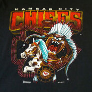 Vintage 1990s NFL Kansas City CHIEFS + Tasmanian Devil Looney Tunes Jostens Sportswear T-Shirt XL
