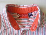 Original Marines TAZ Striped Short Sleeve Baby Boy Shirt Size (Tag)