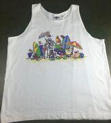 True Vintage 1991 Looney Tunes Bugs Bunny Daffy Duck Sleeveless Beach Tank Top (Front)