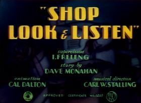 Shop, Look and Listen Title Card