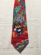 LOONEY TUNES MENS TIE DAFFY AT THE BEACH MENS RED TIE 59x4