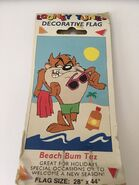 LOONEY TUNES BEACH BUM TAZ YARD FLAG DECORATIVE
