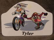 Looney Tunes Bugs Bunny and Taz Ceramic Plaque