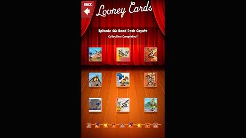 Looney Tunes Dash Card Collection Episode 16 Road Rash Coyote