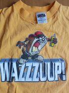Vintage Looney Tunes TAZ Tasmanian Devil Wazzzup T Shirt L 90s