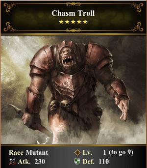 Card - Chasm Troll