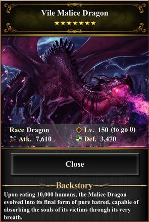 Card - Vile Malice Dragon-max