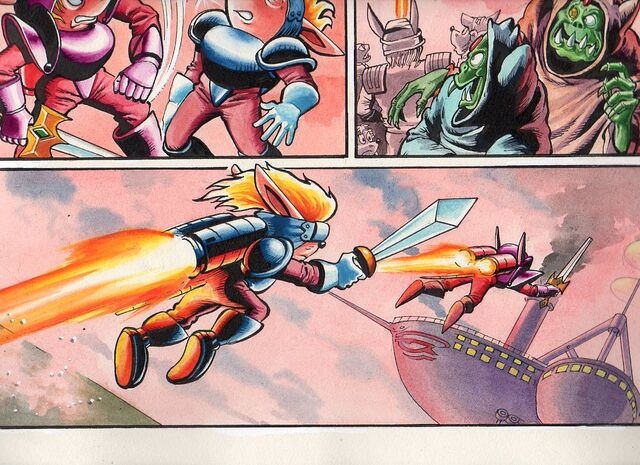 File:Sparkster the Rocket Knight Unreleased Comic Photo9.jpg