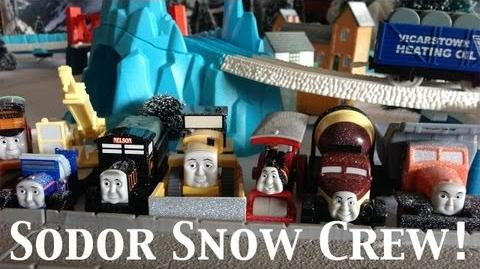 Thomas and Friends Trackmaster Village Sodor Snow Storm Pack Crew!