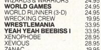 Yeah Yeah Beebiss I (Late 1980s Video Game, Existence Unconfirmed)