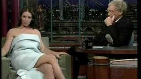 Evangeline Lilly on David Letterman