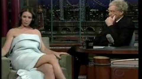 Evangeline Lilly on David Letterman