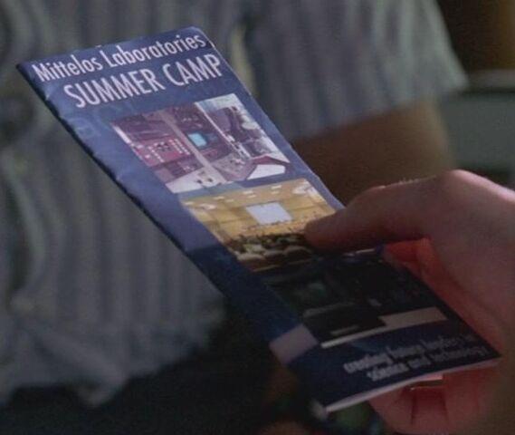 Archivo:4x11 Mittelos Laboratories Summer Camp brochure.jpg