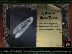 "Limbo of the Lost ""Pair of Metal Tongs"""