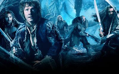 Desolation - Bilbo and dwarves poster