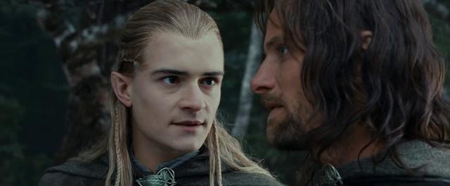 File:Legolas talking to Aragorn - FOTR.png