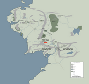 EDORAS location map in middle earth