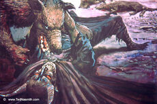Ted Nasmith - Huan Subdues Sauron