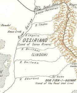Location of Ossiriand