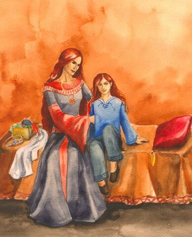 File:Nerdanel with son Maedhros the Firstborn.jpg