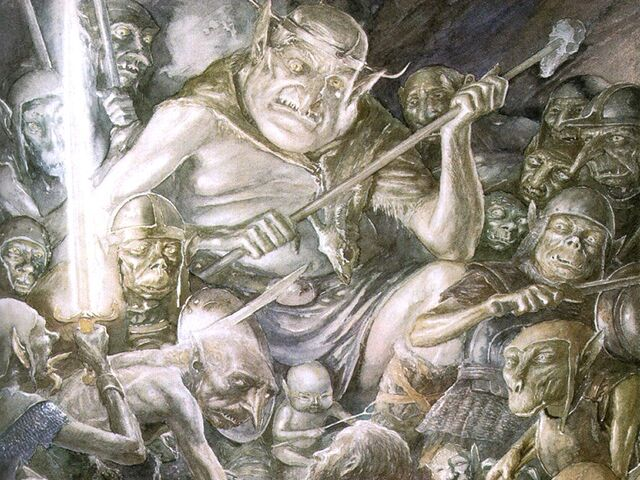 File:Alan Lee - The Hobbit - 23 - The great goblin.jpg
