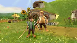 File:Samwise Gamgee with the protagonist in the Shire gameplay, his son, Frodo Gamgee.jpg
