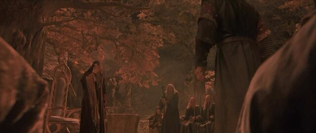 File:Gandalf reciting the Ring verse in the Black Speech of Mordor.jpg