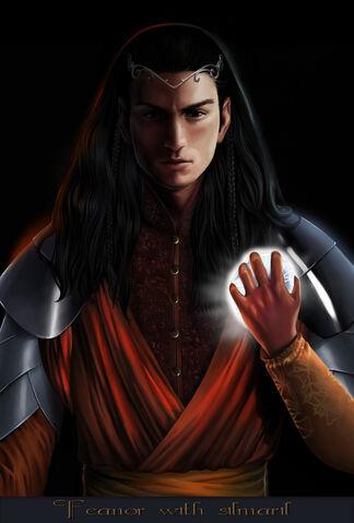 File:Feanor holding a Silmaril.jpg