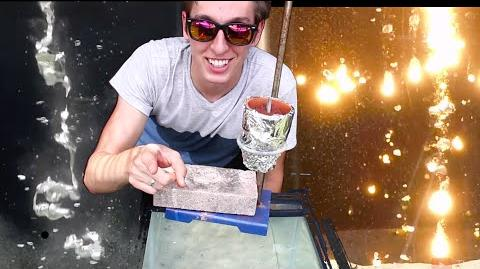 Pouring Molten Metals into Water. COOL! (Aluminum, Thermite, Lead More!)