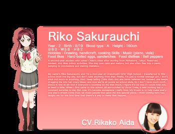 Sunshine!! translated character intro - Sakurauchi Riko