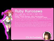 Sunshine!! translated character intro - Kurosawa Ruby