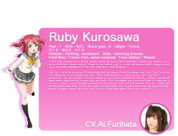 Sunshine!! translated character intro - Kurosawa Ruby