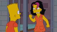 Gina violently rejecting Bart