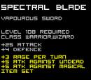 Spectral Blade