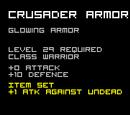 Crusader Armor