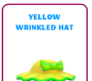Yellow wrinkled hat