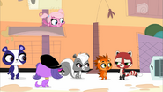 Scarletta meeting the pets