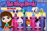 LPS game pet shop rock