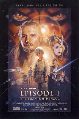 Star Wars Phantom Menace poster