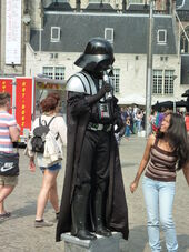 Amsterdam - De Dam - Figure 1 (Darth Vader)