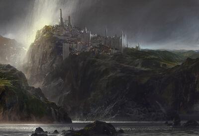 Divinity's Reach cliff concept art