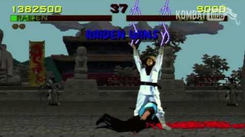 Mortal Kombat (1992) - Fatalities - Raiden