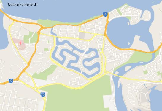 Miduna Beach map