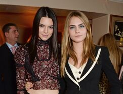 Cara-delevingne-and-kendall-jenner-love-magazine-lunch-london-february-2014 1