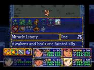 Miracle Litany Menu
