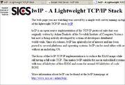 Default lwIP server page