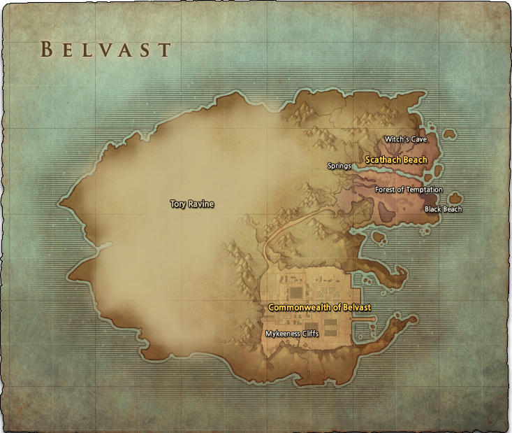 Belvast World Map