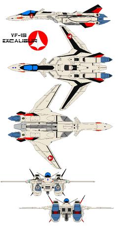 File:YF19 Fighter Left-Top-Bottom-Front-Back.png