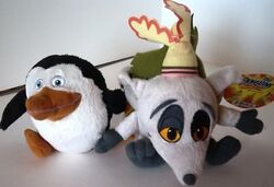 Madagascar-plush-talking-king-julien-and-skipper-bnwt 190473917406
