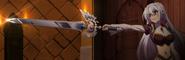 Elen pointing sword